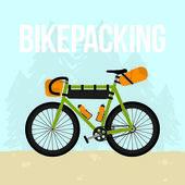 Bikepacking — ストックベクタ