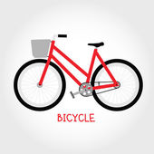 Cruiser bicycle isolated vector — Stockvektor