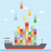 Cargo ship — Stock Vector