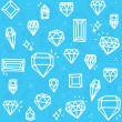 blauwe diamanten — Stockvector  #58448627