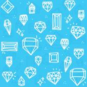 Blue diamonds — Stock Vector