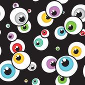 Eyes seamless vector pattern — Stock Vector