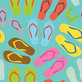 Flip flops pattern — Stock Vector