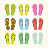 Flip flops — Stockvektor
