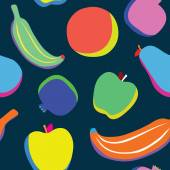 Pop art fruits pattern — Vector de stock