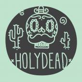 Holy dead sugar skull — Stock Vector