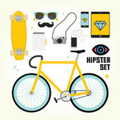Hipster mast have vector objects — Stock Vector