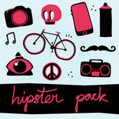 Hipster objects vector set — Vecteur