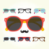 Hipster glasses set — Stock Vector