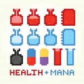 Health and mana icons — Stock Vector