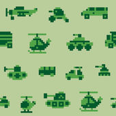 Pixel war pattern — Stock Vector