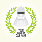 Badminton vector club logo — Stock Vector
