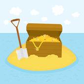 Island treasures vector illustration — Stock Vector