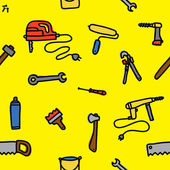 Tools seamless vector pattern — Stok Vektör