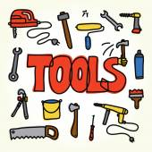 Workshop tools set — Stok Vektör