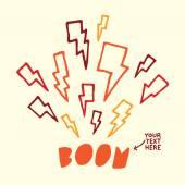 Thunderbolt target vector illustration — Stock Vector