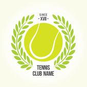 Insignia de la pelota de tenis — Vector de stock