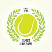 Tennis ball logo — Stok Vektör