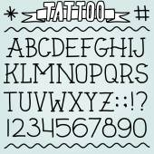 Old school tattoo font — Stock Vector