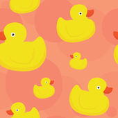 Rubber duck pink pattern — Stock Vector
