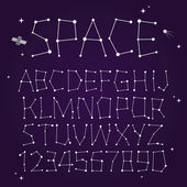 Space vector font — Stock Vector
