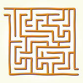 Hand drawn labyrinth vector — Stock Vector
