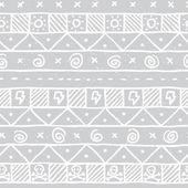 Native skull seamless vector pattern — Vecteur