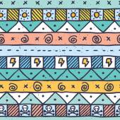 Cute native hand drawn pattern — Vecteur