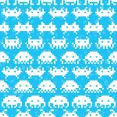 Old school game vector pattern — Stock Vector