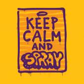 Keep calm and spray — Stockvector