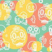 Sugar skulls seamless vector pattern — Stock Vector
