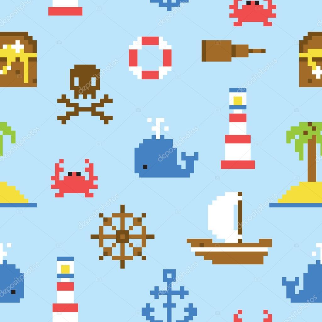 лодка пиксель