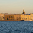 Neva river at sunset in summer - views of the historic buildings — Stock Photo #68771653