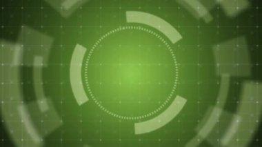 Countdown green — Stockvideo