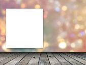 Blank frame on bokeh background — Foto Stock