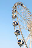Ferris wheel white color - Stock Image — Stock Photo