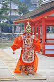 Bugaku performer at Istukushima Shrine — Stock Photo