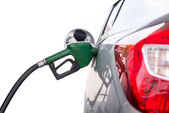 Pumping gas isolated white background with clipping path — Stock Photo