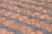 Brick floor texture — Stock Photo