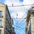 Cables tram to transport in the city, Switzerland — Stock Photo #70128101