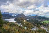 Top view of Hohenschwangau castle, Germany — Stock Photo