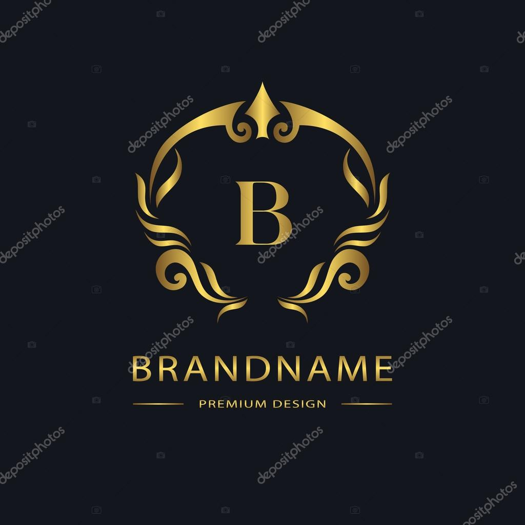 Luxury vintage logo business sign label gold letter for Luxury hotel logo
