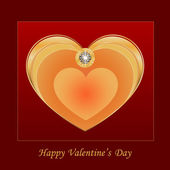 Heart jewelry — Stock Vector
