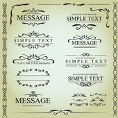 Calligraphic design elements and page decoration - vector set — Stock Vector