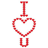 Inscription I love you. Vector illustration — Stock Vector
