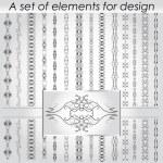 Calligraphic design elements - vector set.  Vector illustration — Stock Vector #67683793