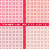 Set of seamless pattern delicate shades. Vector illustration — Stock Vector