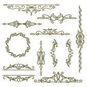 Monogram design elements, graceful template. Elegant line art logo design, frames and borders. Vector illustration — Stock Vector