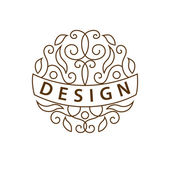 Monogram design elements, English letters. Elegant line art logo design. Business sign, identity for Restaurant, Royalty, Boutique, Cafe, Hotel, Heraldic, Jewelry, Fashion, Wine. Vector illustration — Stock Vector