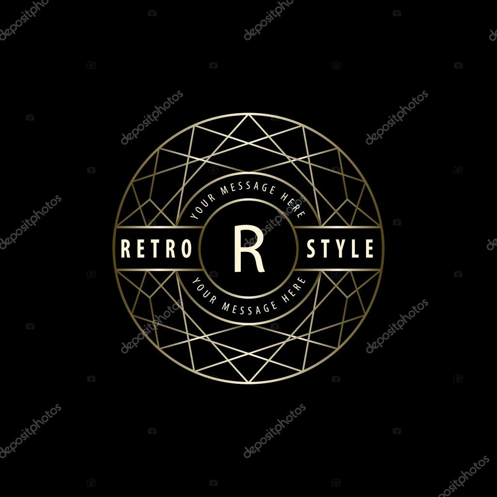 geometric monogram logo abstract vector template in. Black Bedroom Furniture Sets. Home Design Ideas